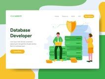 Landing page template of Database Developer Illustration Concept. Modern Flat design concept of web page design for website and royalty free illustration