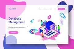 Landing page template of Database Management vector illustration
