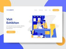 Landing page template of Exhibition Concept. Modern flat design concept of web page design for website and mobile website.Vector vector illustration