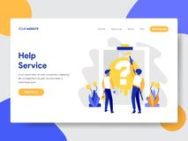 Landing page template of Help Service Concept. Modern flat design concept of web page design for website and mobile website.Vector vector illustration