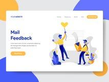 Landing page template of Mail Feedback Concept. Modern flat design concept of web page design for website and mobile website. Vector illustration royalty free illustration
