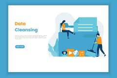 Free Landing Page Template Of Data Cleansing Illustration Stock Photography - 179643942