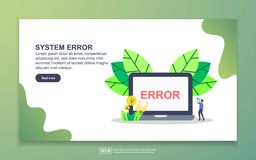 Free Landing Page Template Of System Error. Modern Flat Design Concept Of Web Page Design For Website And Mobile Website. Easy To Edit Stock Photography - 164649602