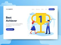 Landing page template of Office Best Achiever stock illustration