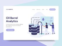 Landing page template of Oil Barrel Price Illustration Concept. Isometric flat design concept of web page design for website and. Mobile website.Vector stock illustration