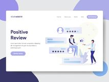 Landing page template of Positive Review Illustration Concept. Modern flat design concept of web page design for website and. Mobile website.Vector illustration vector illustration