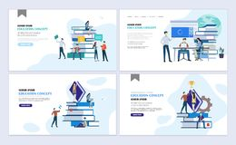 Landing pages education Stock Illustration