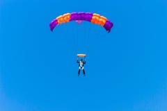 Landing paratrooper Stock Image