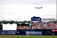 Landing path to JFK (Old Shea Stadium) Royalty Free Stock Photo
