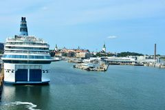 Jetty for the ferry boats in Tallinn Stock Photography