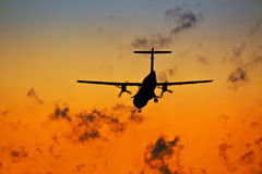 Landing plane Royalty Free Stock Photo