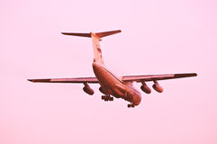 Landing of the plane. Stock Images