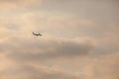 Landing plane Stock Photo