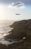 Landing plane Palma Stock Image