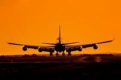 Landing plane Stock Image