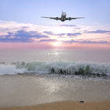 Landing of the plane. Stock Photography