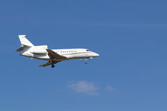Landing private jet Stock Photos