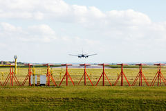 Landing on runway Royalty Free Stock Photography