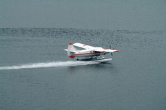 Landing Seaplane Royalty Free Stock Photo