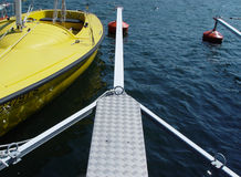 Landing stage 2. Metal landing stage at a yachting club Royalty Free Stock Photo