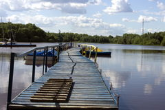 Landing stage Royalty Free Stock Photos