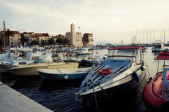 Landing stage in beautiful Adriatic Royalty Free Stock Photos