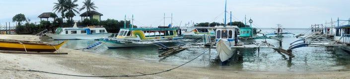 Landing stage for boats on island Borakaj. Royalty Free Stock Images