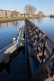 Landing stage in the canal Royalty Free Stock Photo