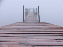 Landing stage in the fog Royalty Free Stock Images