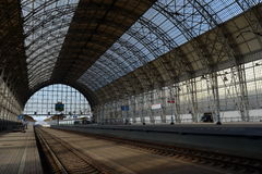 Landing stage of the Kiev railway station. Royalty Free Stock Image
