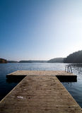 Landing stage on lake Royalty Free Stock Photography