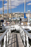 Landing stage in the Marina Royalty Free Stock Image