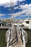 Landing stage in the Marina Stock Photos