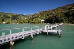Landing stage in the Marlborough Sounds Royalty Free Stock Image