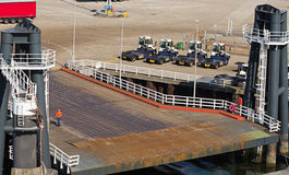 Landing-stage or pier for large ships Stock Images