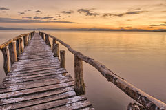 Landing Stage after sunset Royalty Free Stock Photo