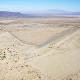 Landing strip in desert. Stock Image