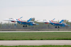 Landing SU-27 Royalty Free Stock Photos