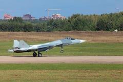 Landing Sukhoi PAK FA T-50 Royalty Free Stock Image