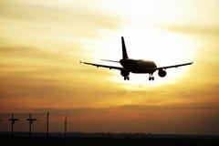 Landing at sunset Stock Photography