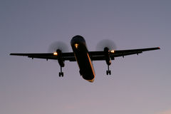 Landing after sunset Royalty Free Stock Images