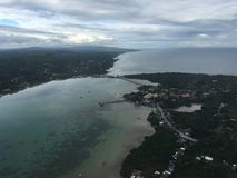Landing in Tagbilaran City. Bohol in the Philippines stock images