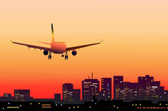 Landing time. Is a  illustration Stock Photos