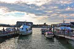 Landing of tourists on a boats is Venice, Italy Royalty Free Stock Images