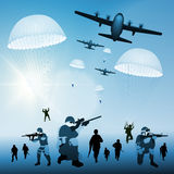 Landing troops Stock Photography