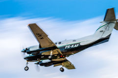 Landing turboprop #2 Royalty Free Stock Image