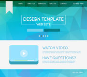 Landing web page. Vector design website theme template. Landing web page layout with blurred background Royalty Free Stock Photo