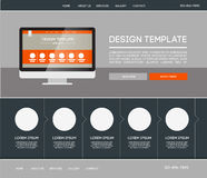 Landing web page. Vector design website theme template. Landing web page layout with blurred background Stock Images