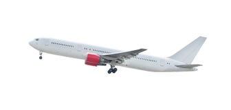 Landing of white plane isolated background for multipurpose usin Stock Photos