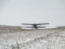 Landing AN-2 royalty free stock photography